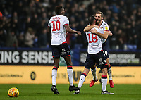 Bolton Wanderers' Gary O'Neil celebrates scoring his side's second goal with his team mates Sammy Ameobi and Marc Wilson <br /> <br /> Photographer Andrew Kearns/CameraSport<br /> <br /> The EFL Sky Bet Championship - Bolton Wanderers v Rotherham United - Wednesday 26th December 2018 - University of Bolton Stadium - Bolton<br /> <br /> World Copyright &copy; 2018 CameraSport. All rights reserved. 43 Linden Ave. Countesthorpe. Leicester. England. LE8 5PG - Tel: +44 (0) 116 277 4147 - admin@camerasport.com - www.camerasport.com
