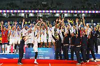 CURITIBA,PR, - 08.07.2017 – BRASIL-FRANÇA – Jogadores da França de vôlei, durante premiação da final da liga mundial de vôlei no estádio Arena da Baixada, em Curitiba neste sábado (08).(Foto: Paulo Lisboa/Brazil Photo Press)