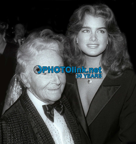 Erte and BrookeShields 1984<br /> Photo By Jesse Nash/PHOTOlink
