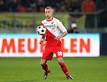 Nederland, Utrecht, 30 maart 2012.Eredivisie .Seizoen 2011-2012.FC Utrecht-Excelsior (3-2).Mike van der Hoorn van FC Utrecht in actie met bal
