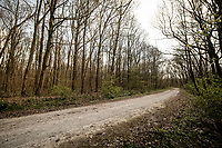 Empty gravel roads (the WW1 'Plugstreets') on race day<br /> <br /> Due to the international pandemic caused by the coronavirus COVID-19, the 82nd edition of Gent-Wevelgem in Flanders Fields (BEL/1.UWT), like all other Spring Classics in 2020, was cancelled which left the race roads (as the rest of the country in lockdown) eerily empty on race day…<br /> <br /> 1 day race from Ypres to Wevelgem (257km)<br /> <br /> ©kramon