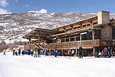 USA, Utah, Midway, the Nordic ski lodge at Soldier Hollow