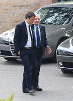 il presidente del consiglio Matteo Renzi con il sindaco di Salerno Vincenzo De Luca candidato alla presidenza della regione Campania negli scavi archeologici di Pompei per presentare Expo 2015,  18 Aprile 2015