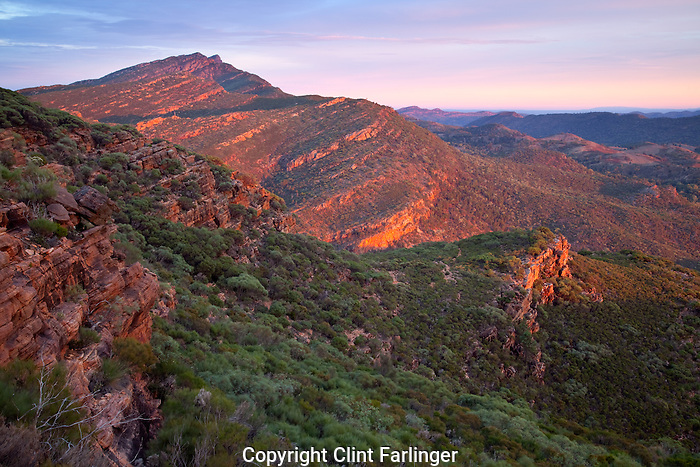 Wangara Hill (from Mount Ohlssen-Bagge), Flinder Ranges National Park, South Australia, Australia