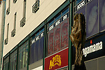 Close up of shops on exterior of the Bullring shopping centre in Egbaston Street Birmingham England