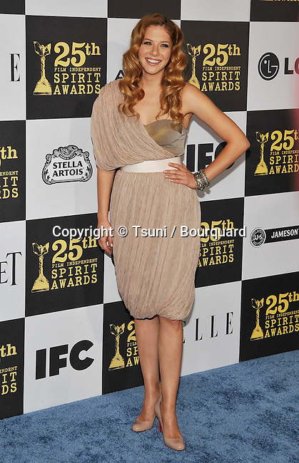 Rachelle Lefevre _54   -<br /> 25th Film Independent Spirit Awards at the Nokia Theatre In Los Angeles.