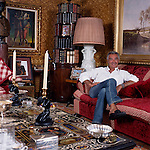 Flavio Briatore, manager of Renault's Formula 1 team photographed at his London ( Chelsea) flat