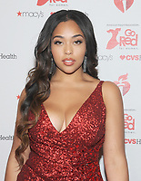 NEW YORK, NY - FEBRUARY 07:  Jordyn Woods attends The American Heart Association's Go Red For Women Red Dress Collection 2019 Presented By Macy's at Hammerstein Ballroom on February 7, 2019 in New York City.     <br /> CAP/MPI/GN<br /> ©GN/MPI/Capital Pictures