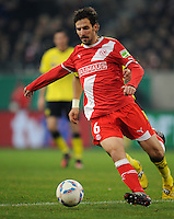 FUSSBALL   DFB POKAL   SAISON 2011/2012  ACHTELFINALE  Fortuna Duesseldorf - Borussia Dortmund              20.12.2011 Jens Langeneke (Fortuna Duesseldorf) Einzelaktion am Ball