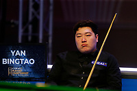 29th February 2020; Waterfront, Southport, Merseyside, England; World Snooker Championship, Coral Players Championship;  Yan Bingtao (CHN) looks on during tonight's semi final match versus Shaun Murphy (ENG)