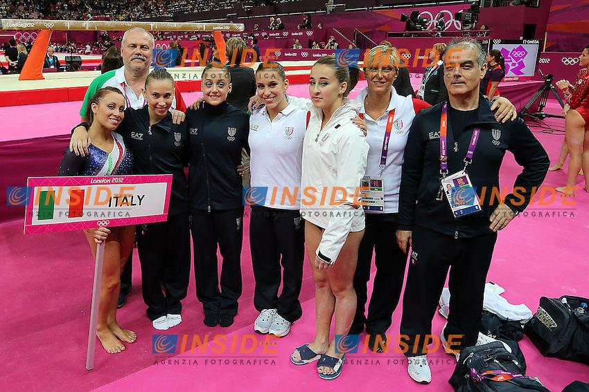 Londra 31/07/2012 North Greenwich Arena.London 2012 Olympic Games Women Gymnastic Artistic.Olimpiadi Londra 2012 Ginnastica artistica femminile a squadre.la squadra italiana a fine gara.Foto Insidefoto Paolo Nucci.