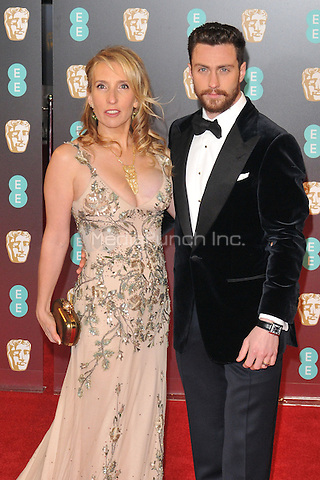 Sam Taylor-Johnson and Aaron Taylor-Johnson at the EE British Academy Film Awards (BAFTAs) 2017, Royal Albert Hall, Kensington Gore, London, England, UK, on Sunday 12 February 2017.<br /> CAP/CAN<br /> &copy;CAN/Capital Pictures /MediaPunch ***NORTH AND SOUTH AMERICAS ONLY***