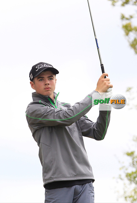 Reece Black (Hilton T'patrick) on the 7th tee during Round 2 of the Irish Boys Amateur Open Championship at Tuam Golf Club on Wednesday 24th June 2015.<br /> Picture:  Thos Caffrey / www.golffile.ie