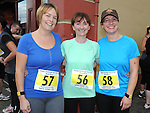Edel Gavin, Sandra CAllaghan and Suzanne Bellew who took part in the Ferdia 5k run in Ardee. Photo: Colin Bell/pressphotos.ie