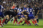 Action from the first international rugby test at Eden Park, Auckland, New Zealand, Saturday, June 02, 2007. The All Blacks beat France 42-11.