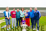 Mairead Clifford makes a presentation to Kathleen Curran (third from right) for her long years of service as secretary of Annascaul GAA Coiste na N&oacute;G.<br /> also in photo, members of Annascaul GAA Coiste na N&oacute;G committee Rose Hickson, David Clifford, John McCarthy, Paudie Moriarty and Tim Falvey<br /> In front is Aislinn Clifford with the Sam McGuire cup.