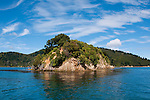 New Zealand South Island, scenic view of Queen Charlotte Sound out of Picton. Photo copyright  Lee Foster.