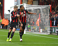 Callum Wilson of AFC Bournemouth right celebrates scoring the first goal with David Brooks of AFC Bournemouth during AFC Bournemouth vs Manchester United, Premier League Football at the Vitality Stadium on 3rd November 2018