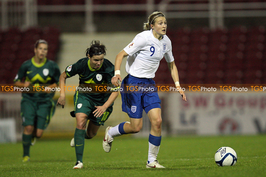 Ellen White of England - England Women vs Slovenia Women - European Championship Qualifying Match at the County Ground, Swindon Town FC - 22/09/11 - MANDATORY CREDIT: Gavin Ellis/TGSPHOTO - Self billing applies where appropriate - 0845 094 6026 - contact@tgsphoto.co.uk - NO UNPAID USE.