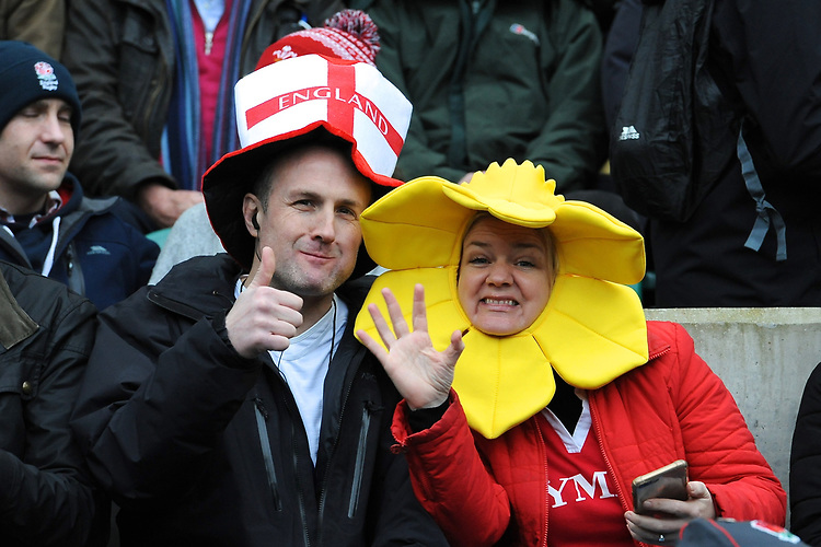 Fans look on during the Guinness Six Nations match between England and Wales at Twickenham Stadium on Saturday 7th March 2020 (Photo by Rob Munro/Stewart Communications)