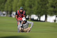 Javier Ballesteros (ESP) on the 10th green during Thursday's Round 1 of the 2017 Omega European Masters held at Golf Club Crans-Sur-Sierre, Crans Montana, Switzerland. 7th September 2017.<br /> Picture: Eoin Clarke | Golffile<br /> <br /> <br /> All photos usage must carry mandatory copyright credit (&copy; Golffile | Eoin Clarke)