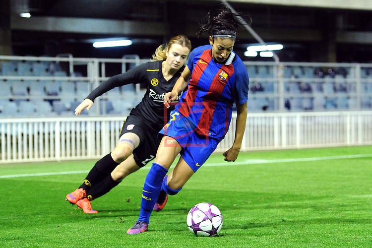 UEFA Women's Champions League 2016/2017.<br /> Round of 16 - First Leg<br /> FC Barcelona vs Twente: 1-0.<br /> Leila Ouahabi vs Roetgering.