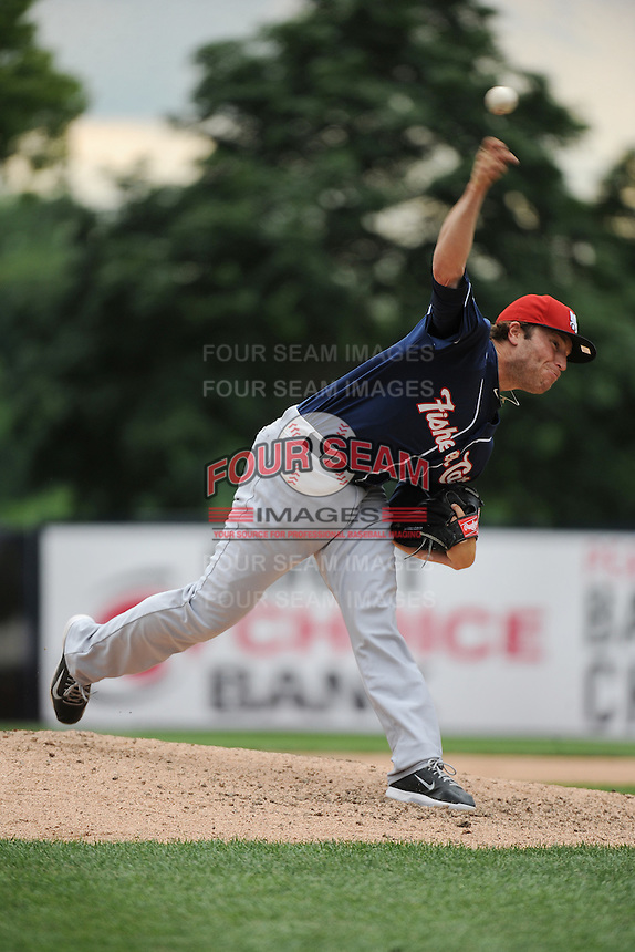 New Hampshire Fisher Cats pitcher Scott Gracey (27) during game against the Trenton Thunder at ARM & HAMMER Park on June 22, 2014 in Trenton, NJ.  New Hampshire defeated Trenton 7-2.  (Tomasso DeRosa/Four Seam Images)