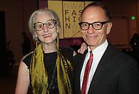 NWA Democrat-Gazette/CARIN SCHOPPMEYER Designer Nancy Martin and Alan Lewis attend the Northwest Arkansas Fashion Week Gala on March 2 at 21c in Bentonville.
