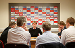 Scot Gemmill rounds on members of the press as he sits down to preview the Scotland u21 match against The Netherlands