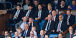 Walter Smith is not impressed as he watches on with his two grandsons