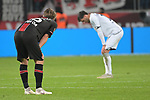 03.11.2018, BayArena, Leverkusen, GER, 1. FBL,  Bayer 04 Leverkusen vs. TSV 1899 Hoffenheim,<br />  <br /> DFL regulations prohibit any use of photographs as image sequences and/or quasi-video<br /> <br /> im Bild / picture shows: <br /> Tin Jedvaj (Leverkusen #16), erschoepft <br /> Foto &copy; nordphoto / Meuter