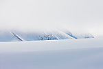 Norway, Svalbard, snow-covered glacier