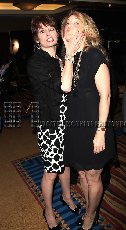 Victoria Clark & Beth Leavel .attending the 65th Annual Tony Awards Meet The Nominees Press Reception at the Millennium Hotel in New York City.