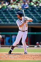 Montgomery Biscuits center fielder Nathan Lukes (2) at bat during a game against the Mississippi Braves on April 25, 2017 at Montgomery Riverwalk Stadium in Montgomery, Alabama.  Mississippi defeated Montgomery 3-2.  (Mike Janes/Four Seam Images)