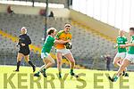 Thomas Lynch St Kierans tackles Brendan O'Sullivan South Kerry during their SFC QF clash in Fitzgerald Stadium on Sunday