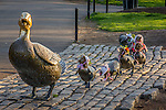The Make Way for Ducklings sculpture (Copyright 1987 Nancy Schön) in the Public Garden, Boston, Massachusetts, USA