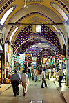 Shopping inside the Grand Covered Bazaar in Istanbul, Turkey