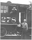 D&amp;RGW C-16 #278 cab with crew.<br /> D&amp;RGW