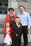 Tadhg Cowley, Katie Jane Parents colin and Laura.at first communion in Duleek church..Picture:  www.newsfile.ie ..