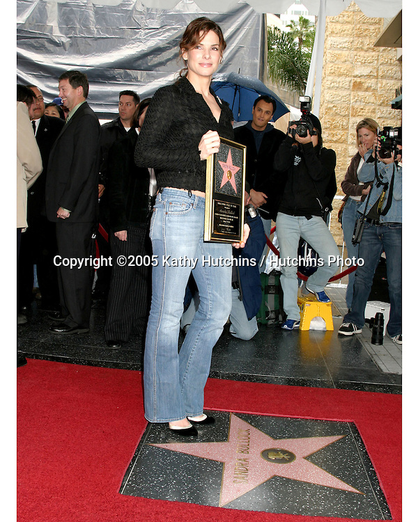 Sandra Bullock.Sandra Bullock receives a Star on the Hollywood Walk of    Fame.Hollywood & Highland.Los Angeles, CA.March 24, 2005.©2005 Kathy Hutchins / Hutchins Photo...