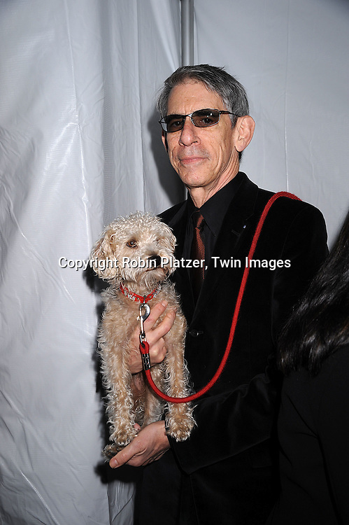 Richard Belzer and his dog Bebe..posing for photographers at The NBC Universal Upfront Announcement of their Fall 2008-2009 schedule on ..May 12, 2008 at Rockefeller Center. Stars from NBC, USA, Bravo, Scifi, Oxygen, Telemundo and mun2 were there. ....Robin Platzer, Twin Images