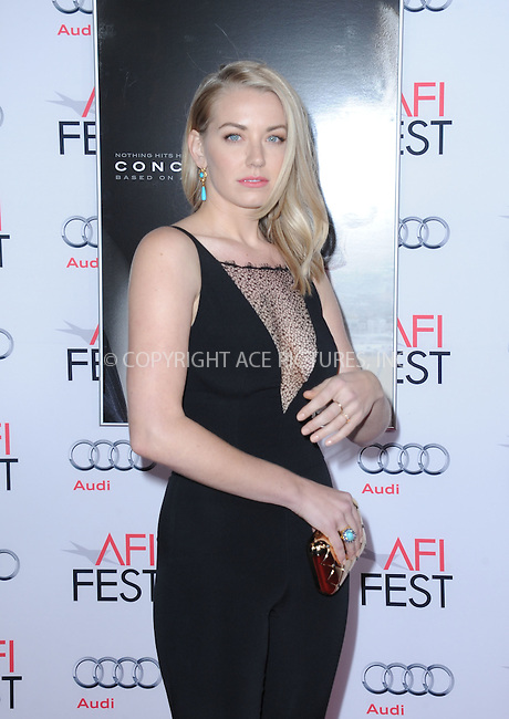 WWW.ACEPIXS.COM<br /> <br /> November 10 2015, LA<br /> <br /> Sara Lindsey attends the AFI FEST 2015 Gala Premiere of 'Concussion' at the TCL Chinese Theatre on November 10, 2015 in Hollywood, California.<br /> <br /> By Line: Peter West/ACE Pictures<br /> <br /> <br /> ACE Pictures, Inc.<br /> tel: 646 769 0430<br /> Email: info@acepixs.com<br /> www.acepixs.comC