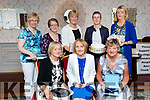 Pictured at the Ballybeggan Golf Society President prize giving at the Meadowlands Hotel, Tralee on Saturday night last were front l-r: Michelle Moore (Lady captain first prize), Mary O'Sullivan (President) and Kathleen Burrows (Past president). Back l-r: Phyllis Mason, Marie Deenihan, Kathleen Houlihan, Angela Enright and Catherine Mitchell.