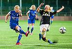Solna 2015-08-31 Fotboll Damallsvenskan AIK - Eskilstuna United :  <br /> Eskilstunas Olivia Schough avslutar mot m&aring;l under matchen mellan AIK och Eskilstuna United <br /> (Foto: Kenta J&ouml;nsson) Nyckelord:  Damallsvenskan Allsvenskan Dam Damer Damfotboll Skytteholm Skytteholms IP AIK Gnaget Eskilstuna United