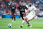 Real Madrid Karim Benzema during Santiago Bernabeu Trophy match at Santiago Bernabeu Stadium in Madrid, Spain. August 11, 2018. (ALTERPHOTOS/Borja B.Hojas)