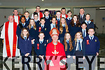 Pupils from St Olivers with Bishop Ray Browne, and Tommy Galvin after they made their Confirmation in the Church of the Ressurection on Friday