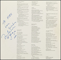 Lennon album signed on the day he was murdered.