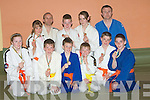JUDO: Well done to the 10 players from the Kerry School of Judo who on tuesday evening brought their medals as they won Gold, Sliver and Bronze in the Munster Invitalional Judo Competition in Cork last week-end. Rachel Patton, Fiona Waltz,Aaron O'BrienCillian O'Brien Eoin O'Brien and Ryan O'Sullivan (Gold Medals), Sadhbh Brosnan (Silver medal), David Long and Stephen Moloney (Bronze) with instructors Tom Patton and Danny Roche...