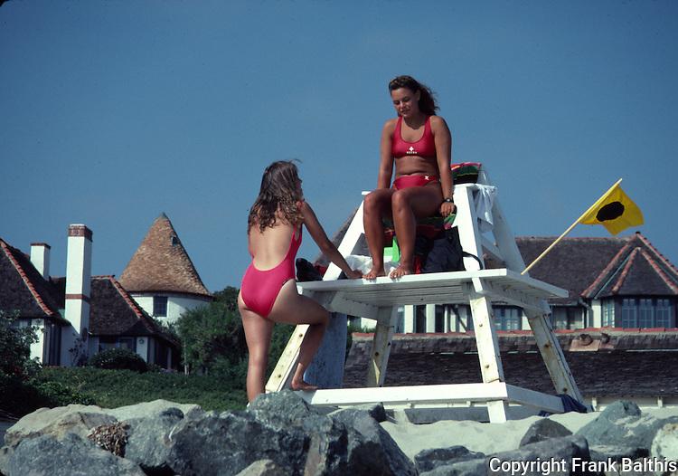 female lifeguards at St, Malo