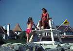 female lifeguards at St, Malo